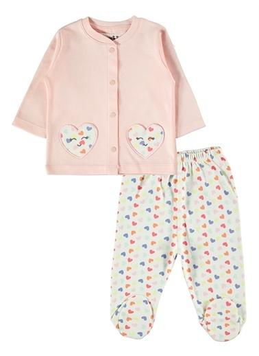 Kujju Kujju Kız Bebek Pijama Takımı 3-6 Ay Mint Yeşili Kujju Kız Bebek Pijama Takımı 3-6 Ay Mint Yeşili Renkli